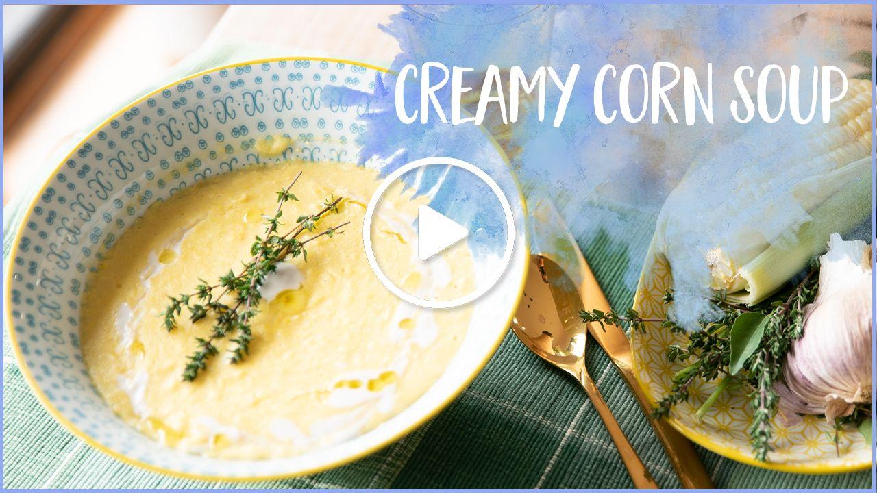 Easy creamy corn soup—restaurant-style